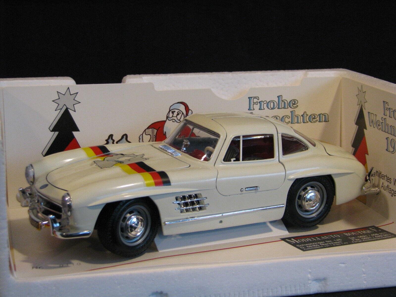 Bburago / Modellauto Boutique Mercedes-Benz 300 SL 1:18  Martor Weihnachten  JS