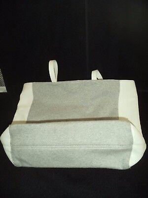 Damen Pull & Bear Handtasche gross weiß grau Top