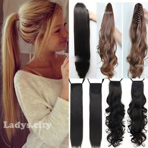 One piece tie up binding ponytail clip in hair extension synthetic image is loading one piece tie up binding ponytail clip in pmusecretfo Choice Image
