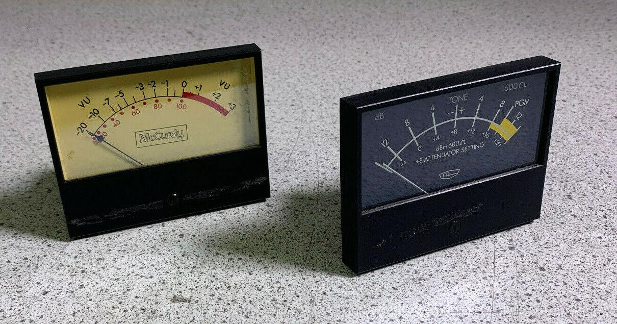 McCurdy 903 82PP & 84VU Vu Meter Pair