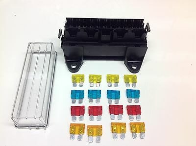16 way FUSEBOX for Blade fuses with 16 x Mixed Blade Fuses