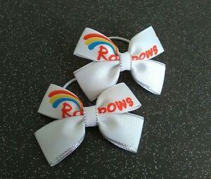Rainbows hair bows pair Girl Guides