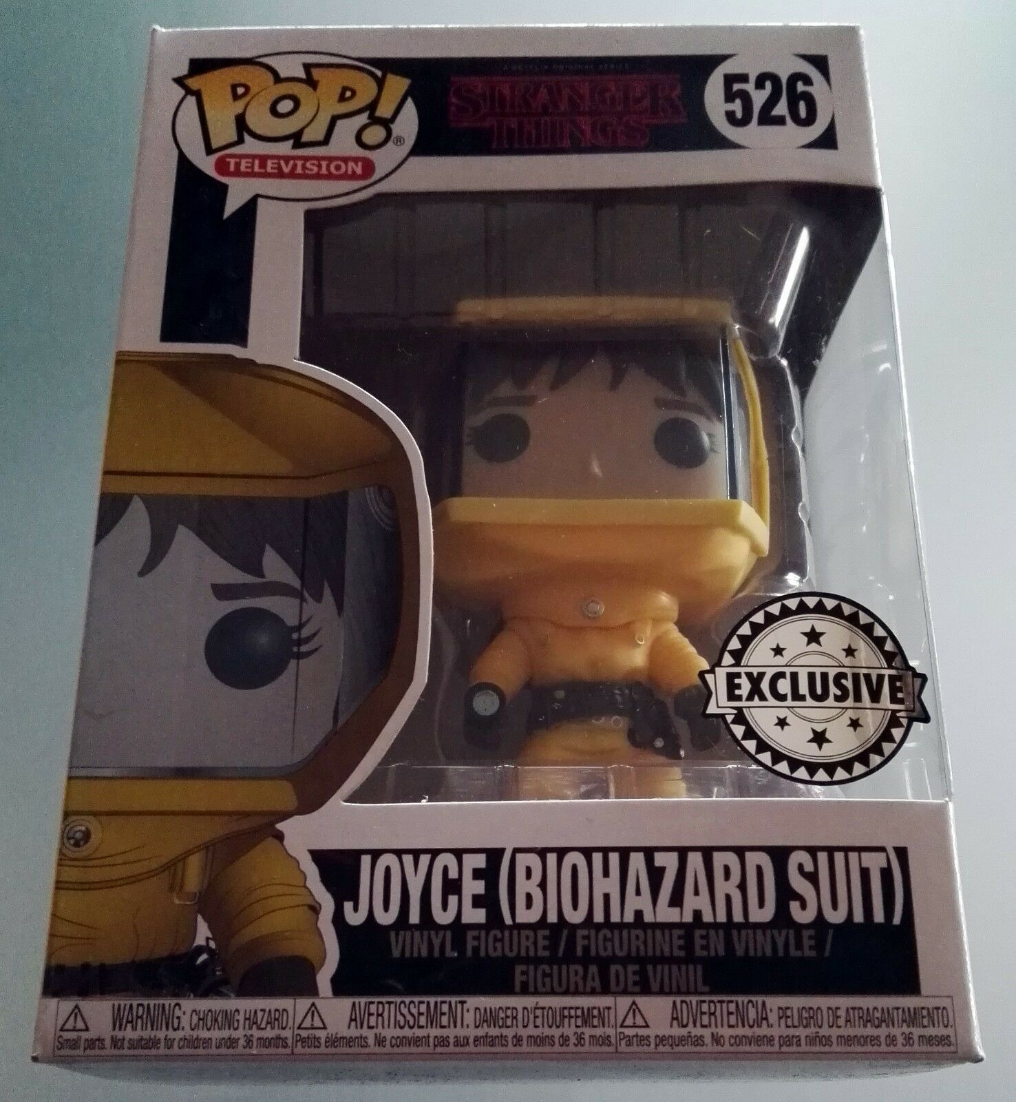 Joyce Biohazard Suite Stranger Things Exclusive Funko Pop Figure Serie Tv