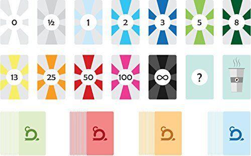 Agile estimation cartes 4 jeux pour 4 personnes-Sprint Planning Poker Cards