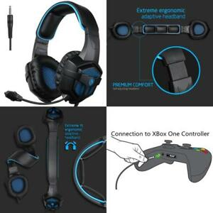 Details about Gaming Headphones For PS4 Pro Xbox One S PC Stereo Headset  Over-Ear Microphone