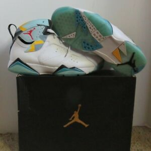 sale retailer 23a57 6528b Details about Nike Air Jordan 7 Retro N7 White Ice Blue Turquoise  744804-144 - Size 10.5