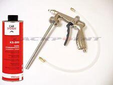 Set UBS Pistole+KS 800 Unterbodenschutzwachs Schwarz Druckluft Autolack Tuning