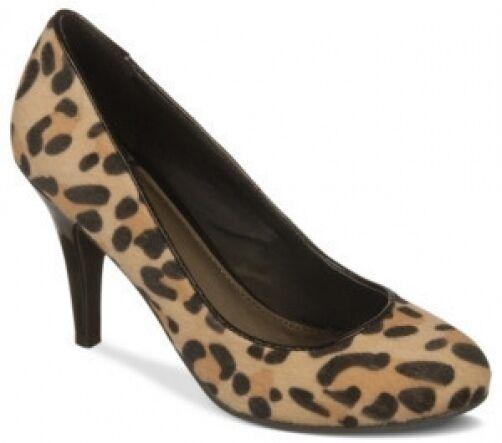 Fergalicious Utopia leopard FUR Pump 3.5 heels sz 6.5 Med NEW