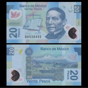 Mexico-20-Pesos-Banknote-2013-P-122-NEW-UNC-North-America-Paper-Money