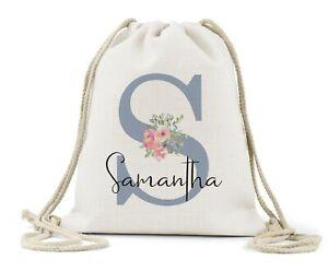 Girls Gym Bag Gym Bag Patterned Bag Kids Activity Bag Personalised Children/'s pastel school gym bag Pastel Bag