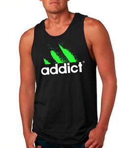 Addict-Tank-Top-T-Shirt-Funny-Neon-Drug-Cocaine-EDM-DJ-Club-Rave-Clothing