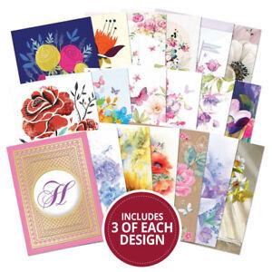 Hunkydory FOREVER FLORALS Topper Decks 54 x 250gsm Cards 18 Designs DECK001