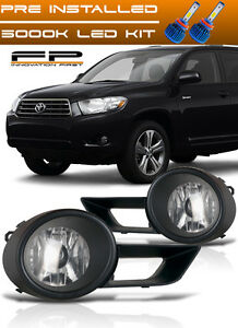 Led 2008 2010 Toyota Highlander Bumper Driving Clear Fog