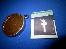 C.1890 - 1797 CARTWHEEL PENNY MATCH HOLDER VESTA CASE MATCH SAFE STRIKER