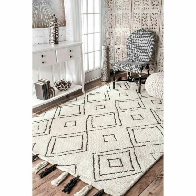 nuLOOM Contemporary Modern Geometric Moroccan Outdoor Area Rugs Ivory