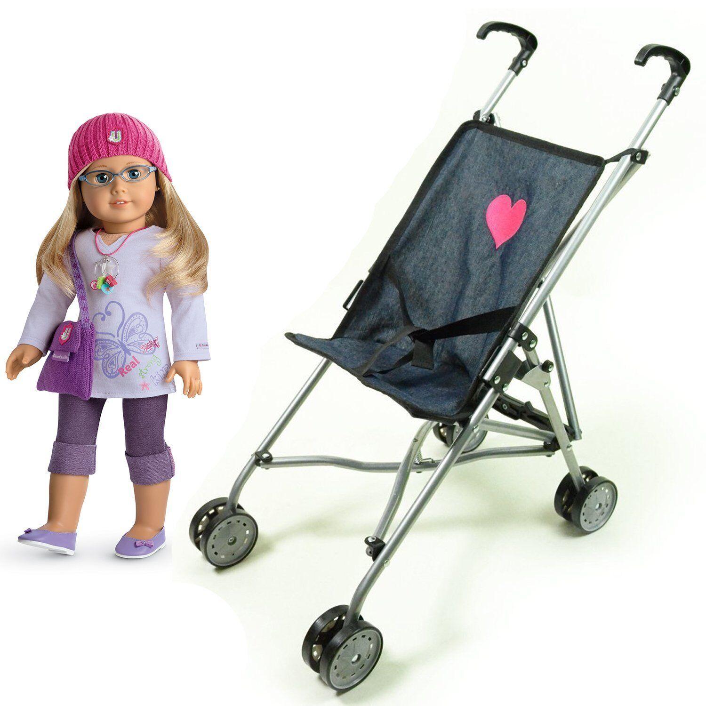 My First Umbrella Doll Stroller in Denim for Toddler Color-Black Unique-Quality