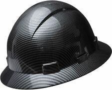 Hydro Dipped Full Brim Hard Hat With With Fas Trac Suspension Shiny Black Color