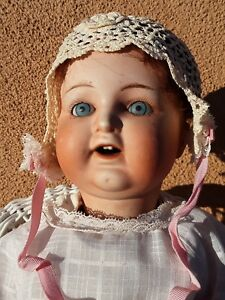 Bisque-character-baby-doll-vintage-porcelain-antique-Nippon-glass-eyes-teeth