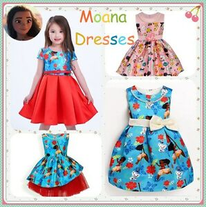 Image Is Loading New Moana Dress Girl Cosplay Gown Princess Children