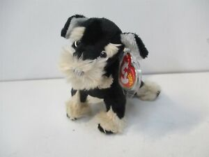 """Ty Beanie Babies 8"""" Black/Tan Pretzels the Dog with Mint Tag"""