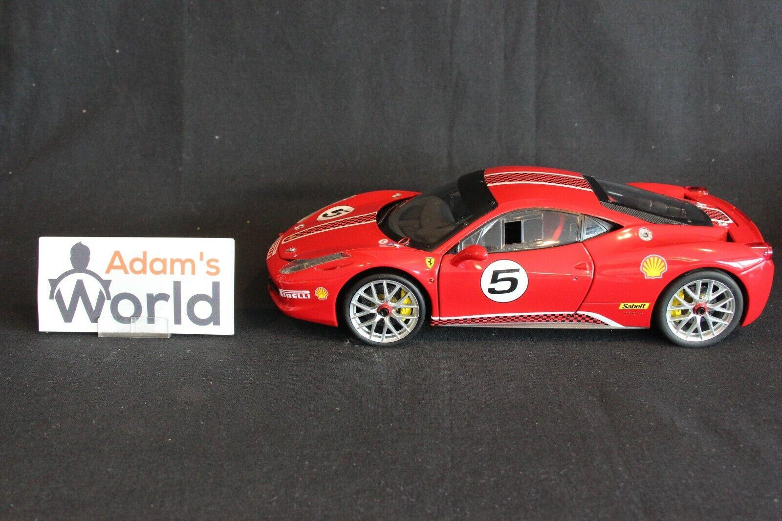 Hot Wheels Elite Ferrari 458 Italia Challenge 1 18  5 rosso (PJBB)