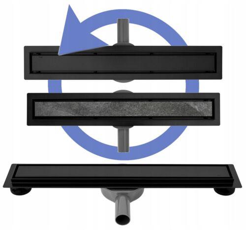 CANIVEAU DE DOUCHE NEO PRO360º BLACK SIPHON PIVOTANT 360º 50-100 GARANTIE 2 ANS