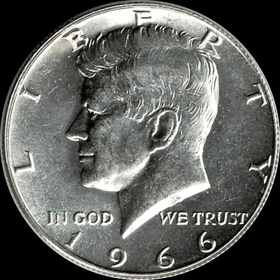 "A 1965 P Kennedy Half Dollar 40/% SILVER US Mint /""About Uncirculated/"""