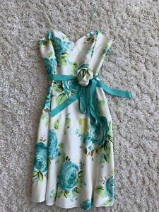 BANANA-REPUBLIC-Floral-100-Silk-Spaghetti-Strap-Dress-Size-2P