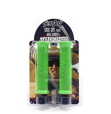 Odi Sensus DisIsDaBoss MTB LockOn Grips Bonus Mtn S-disboss L-gn//bk-clamp 143mm