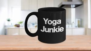 Yoga-Junkie-Mug-Black-Ceramic-Coffee-Cup-Funny-Gift-for-Teacher-Instructor