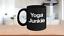 Yoga-Junkie-Mug-Black-Ceramic-Coffee-Cup-Funny-Gift-for-Teacher-Instructor miniature 1
