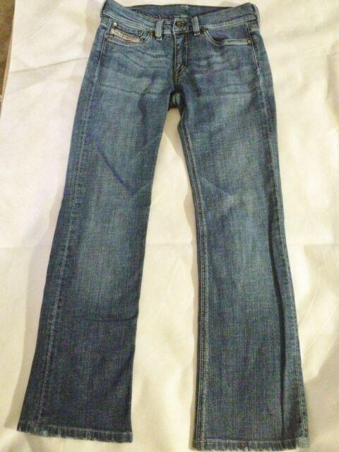 DIESEL Medium Wash Cotton Stretch Low Rise Bootcut  Jeans 28 x 28 EUC