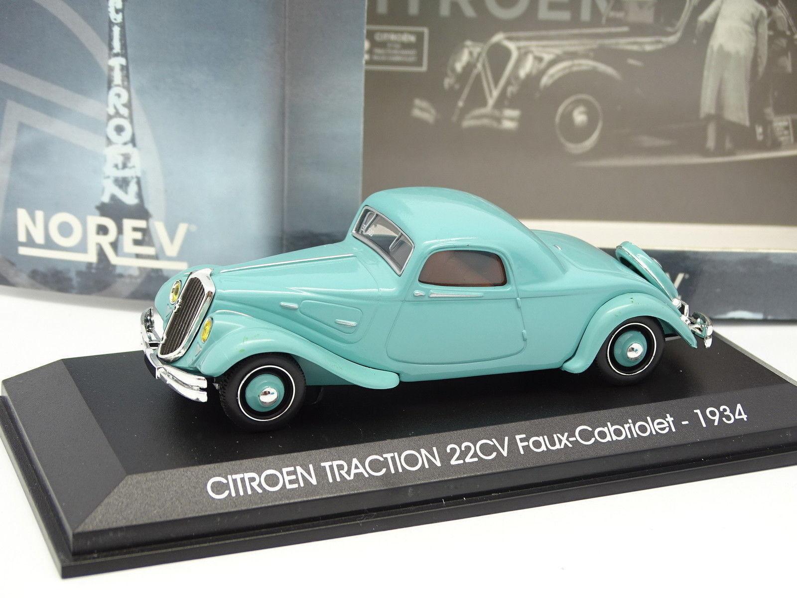 Norev 1 43 - Citroen Traction 22CV Falso Cabriolet 1934 1934 1934 blue d506a1