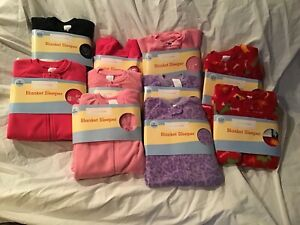 Wholesale-Lot-10-Pieces-Blanket-Sleepers-Kids-Fleece-Various-Sizes-NWT