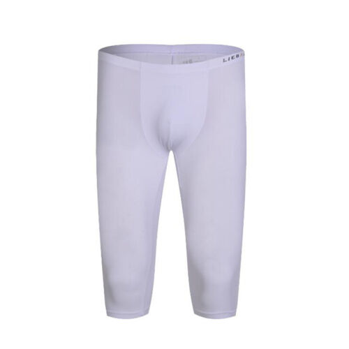 Mens Gym Shorts Training Running Sports Fitness Jogging Cropped Pants Trousers