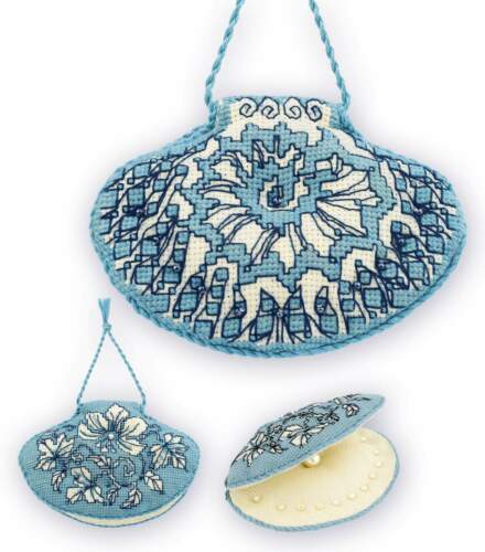 """/""""Needle bed/"""" Shell /""""/"""" Counted Cross Stitch Kit RIOLIS"""