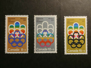 Canada Olympics 1976 bronze silver gold stamps - MNH 1 cent start!