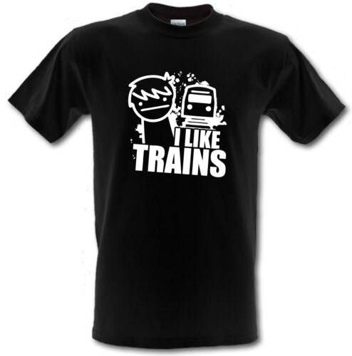 ASDF I Like Trains CULT Cartoon Gamer per Bambini T-shirt ** Tutte Le Età **