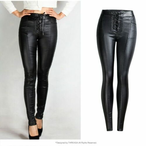 Stretch PU Leather Pants Plus Size Pencil Skinny Trousers