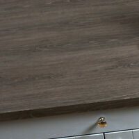 Grey Oak Laminate Kitchen Worktops 38mm, Square Edge Wood Effect Edging Included