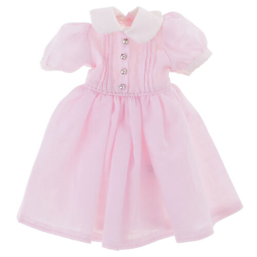 Dolls Fashion Doll Pink Summer Dress for 12'' Neo Blythe Dolls Clothes Accessory