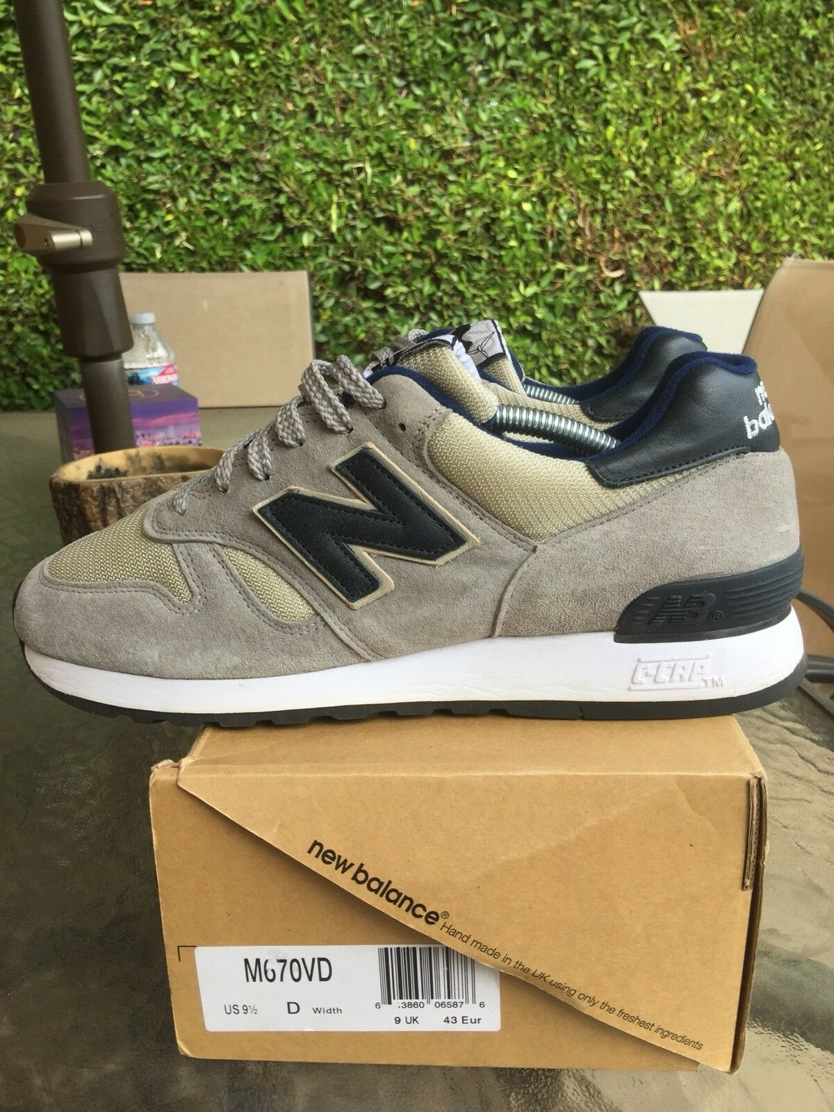 New Balance 670 VD Rare Grey Suede Made In England Sz 9.5 US