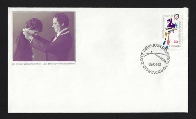 Canada FDIC — 1982, Terry Fox , Marathon of Hope #915 Lot 60421