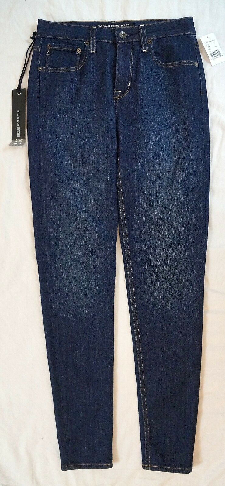 New Big Star Avalon High Rise Skinny Flux Wash Womens Jeans Size 26  108