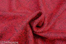 C166DELUXE FABRIC HEAVY VENETIAN RED&DARK GREY BOILED WOOL MELANGE MADE IN ITALY