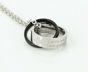 Halskette-mit-Anhaenger-und-Gravur-in-Silber-Schwarz-Dezent-Geschenk-Xuping-Neu