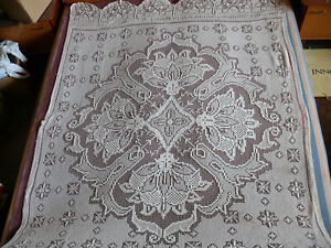 #1726 Beautiful Vintage Hand Made Bedspread 220cm/150cm 87''x59'' Convenience Goods