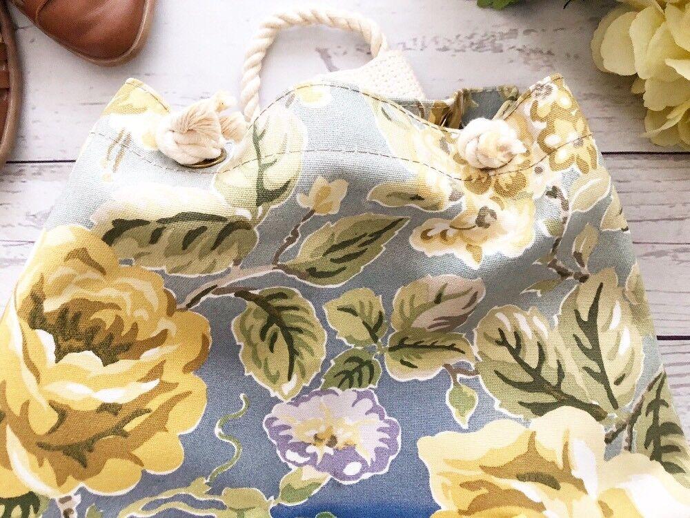Vintage 1990's Laura Ashley Floral Cinch Backpack… - image 2