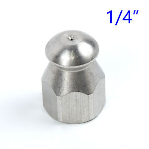 """Steel Pressure Washer Drain Sewer Cleaning Pipe Jetter Rotary Nozzle 1//4/""""F 3 Jet"""
