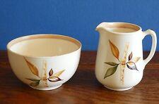 Vintage  Morley Ware Jug / creamer and Bowl Bamboo pattern